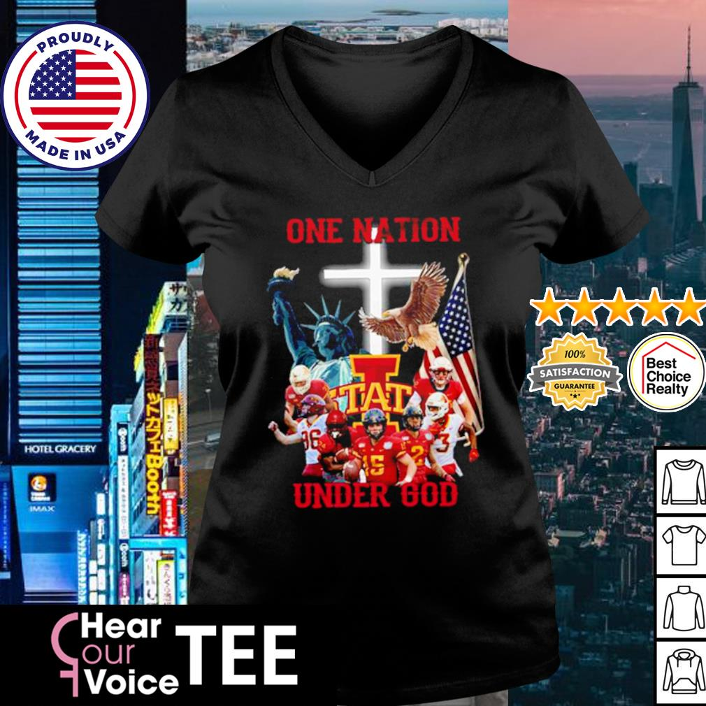 Iowa State Cyclones one nation under god American Flag s v-neck t-shirt