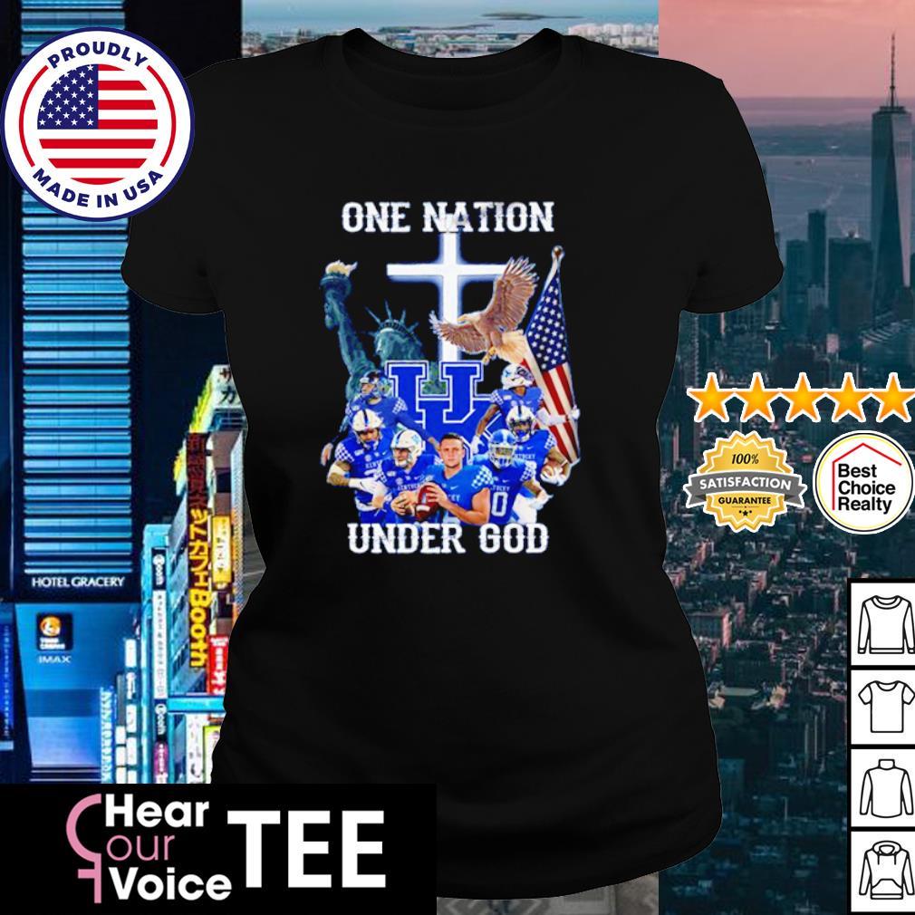 Kentucky Wildcats one nation under god American Flag s ladies tee