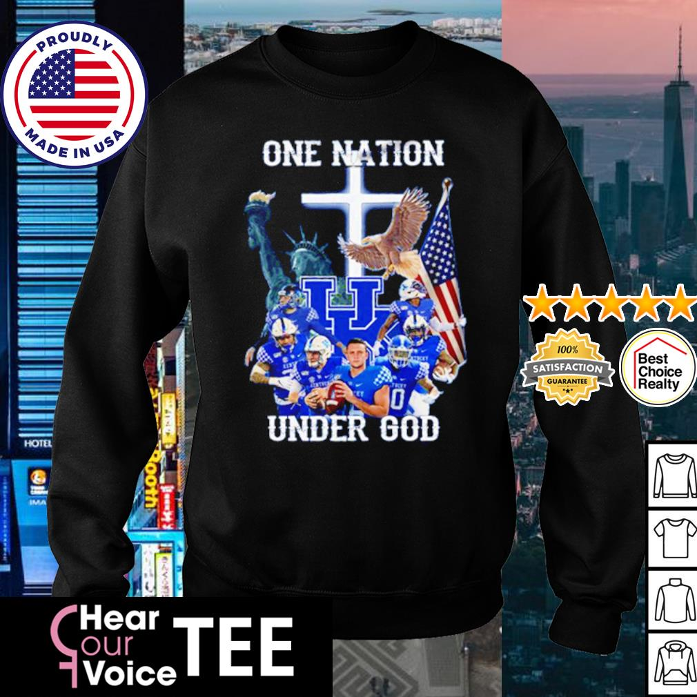 Kentucky Wildcats one nation under god American Flag s sweater