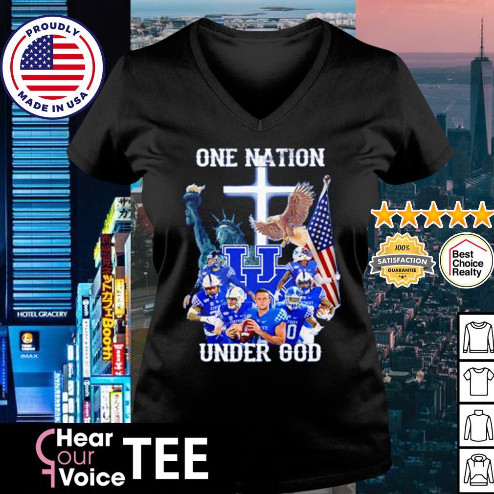 Kentucky Wildcats one nation under god American Flag s v-neck t-shirt