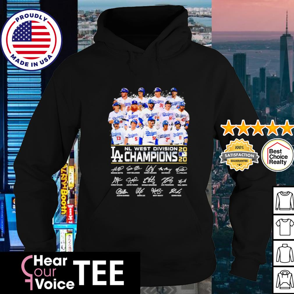 Los Angeles Dodgers NL west division Champions 2020 s hoodie