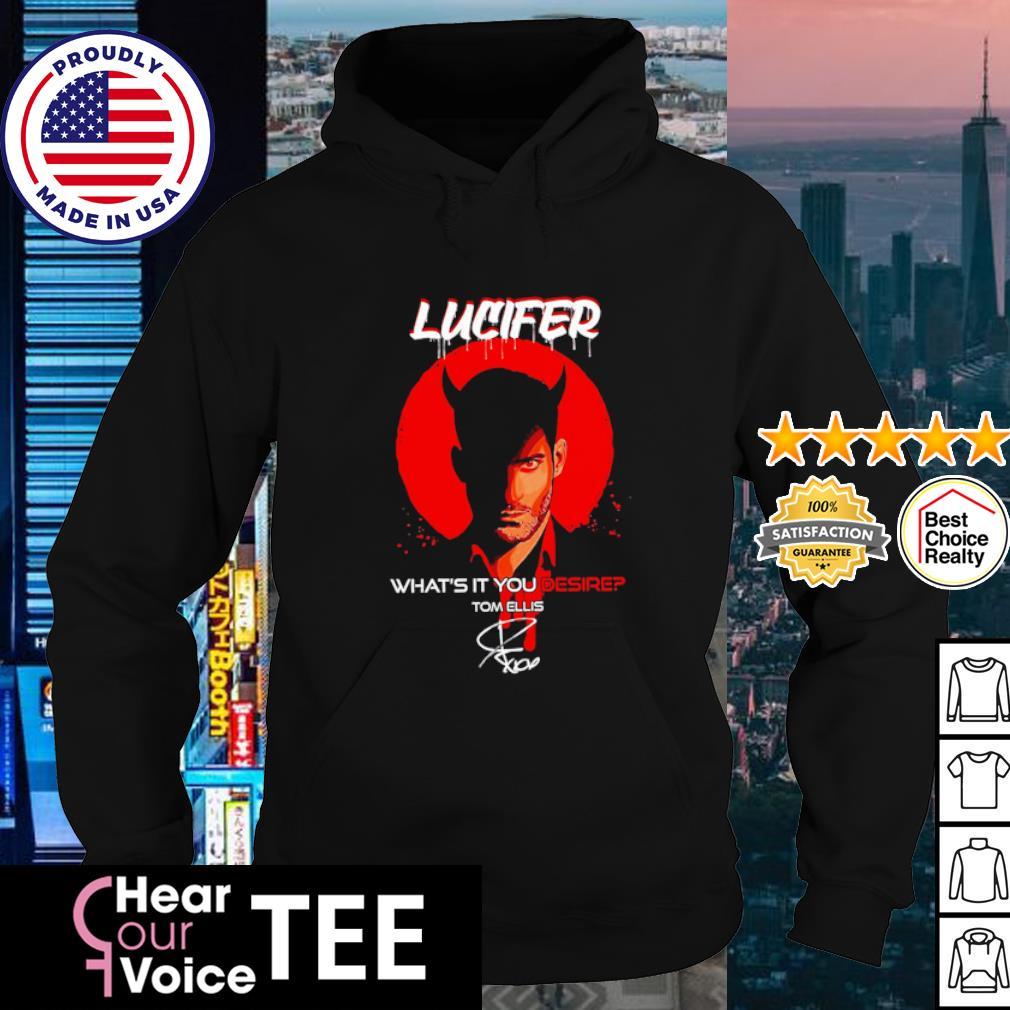 Lucifer what's it you desire Tom Ellis signature s hoodie