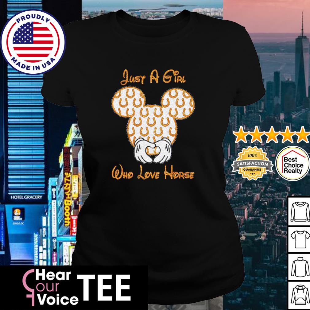 Mickey Mouse just a girl who love horse s ladies tee