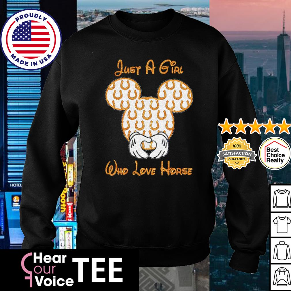 Mickey Mouse just a girl who love horse s sweater