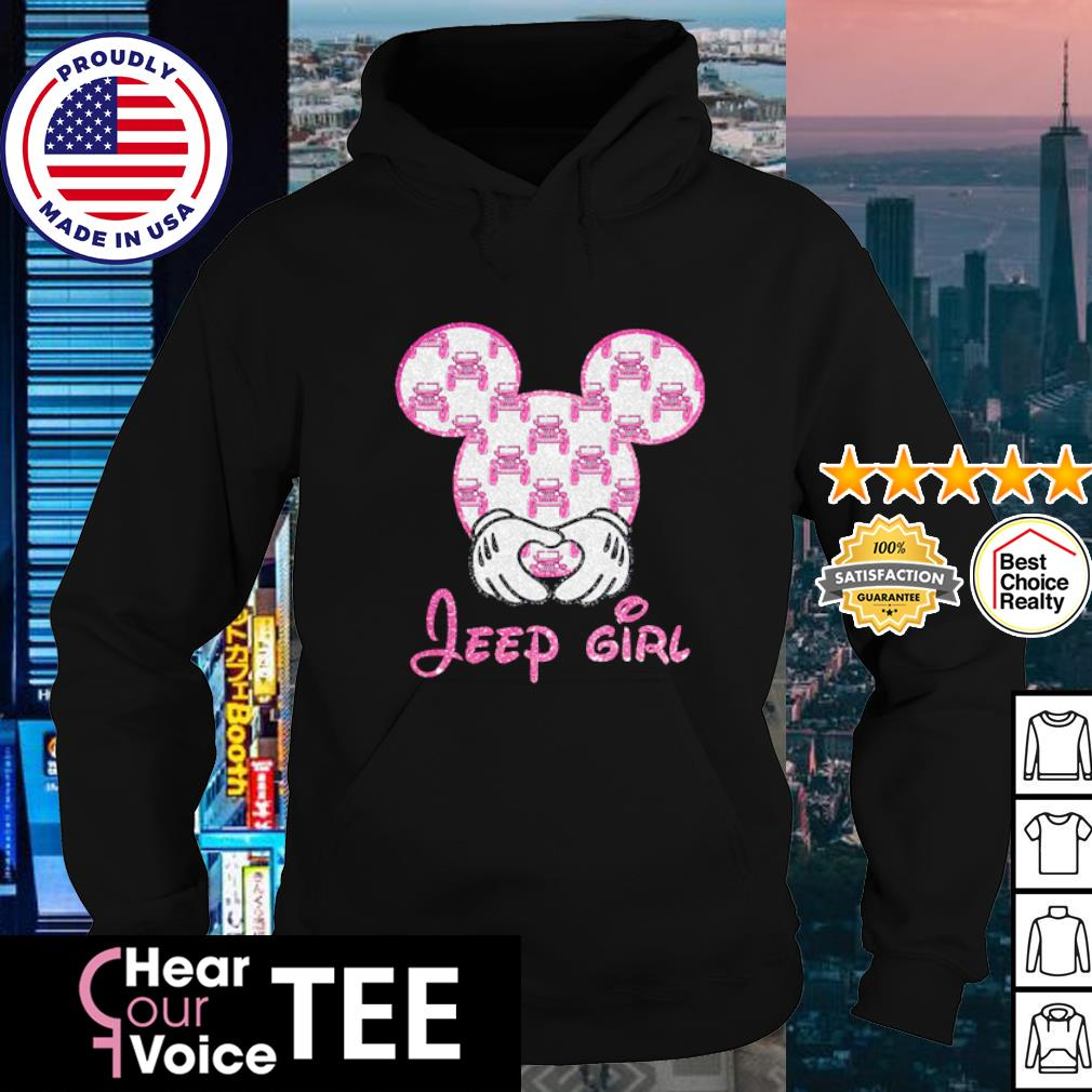 Mickey Mouse love Jeep girl diamond s hoodie