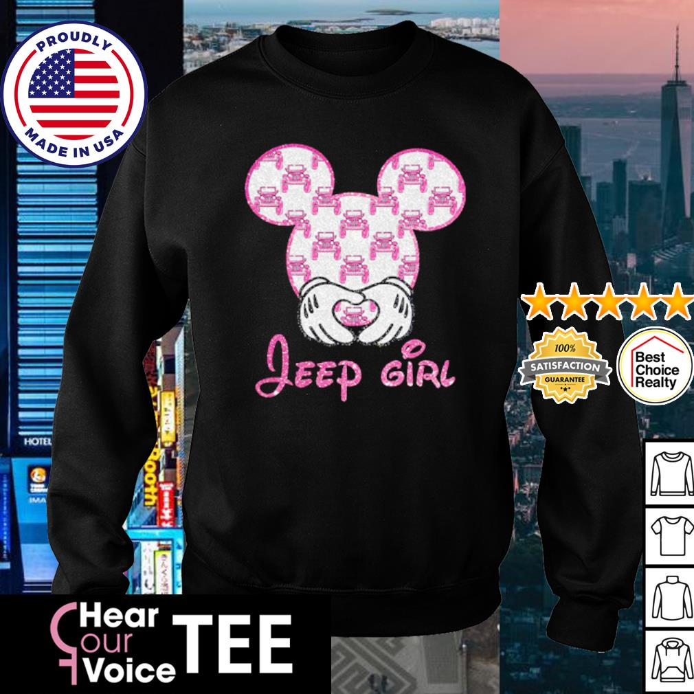 Mickey Mouse love Jeep girl diamond s sweater