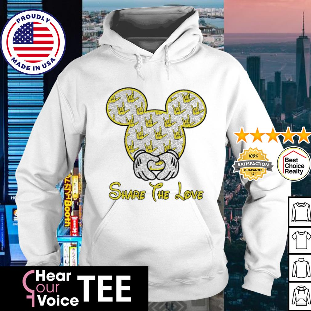 Mickey Mouse share the love s hoodie