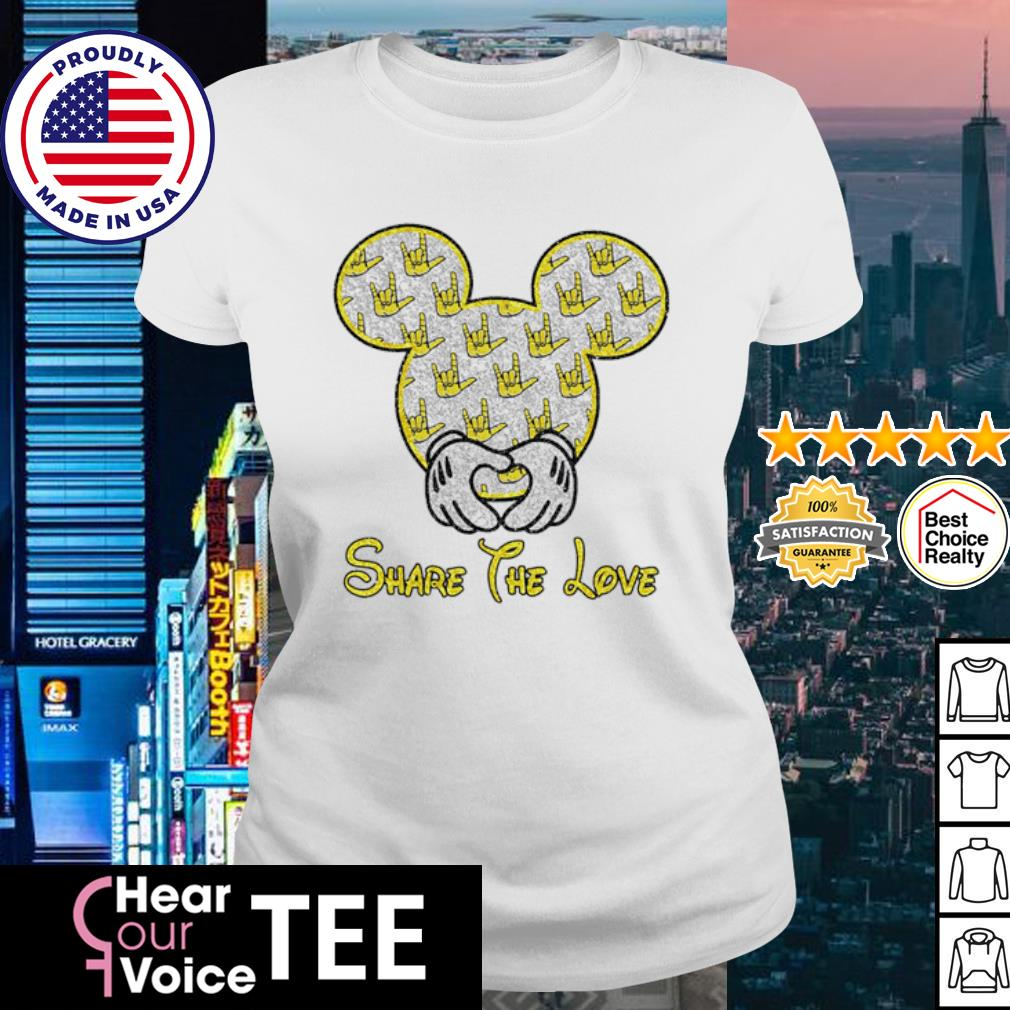 Mickey Mouse share the love s ladies tee