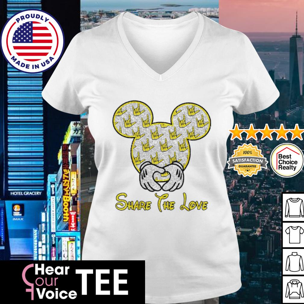 Mickey Mouse share the love s v-neck t-shirt