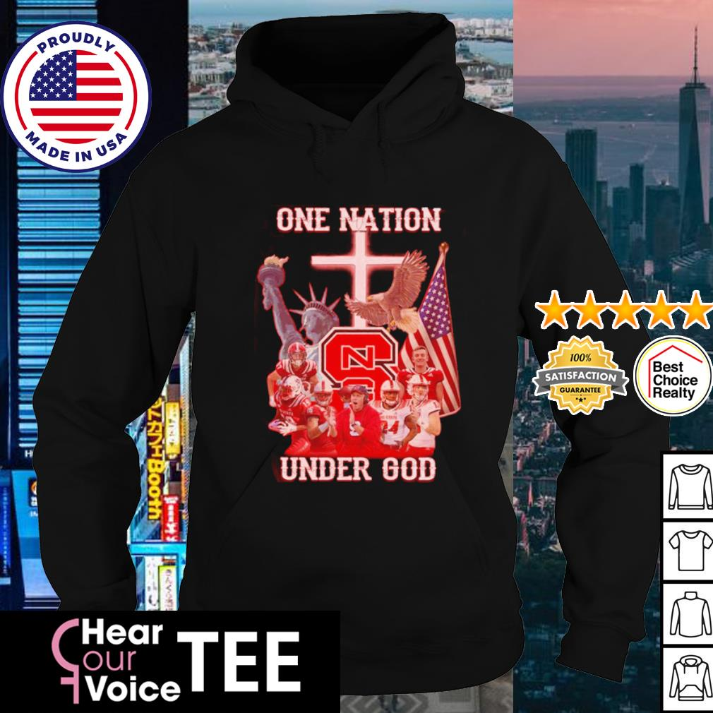 NC State Wolfpack one nation under god American flag s hoodie