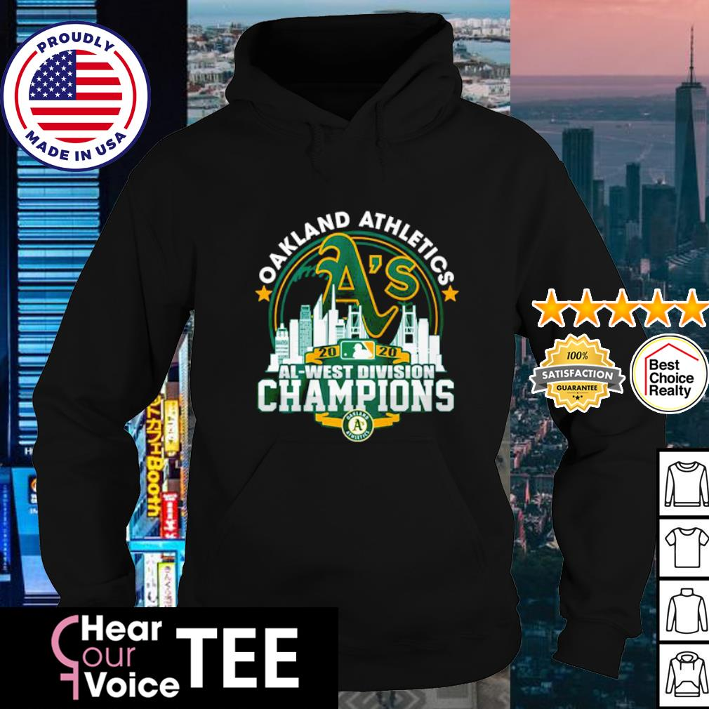 Oakland Athletics 2020 al west division Champions s hoodie