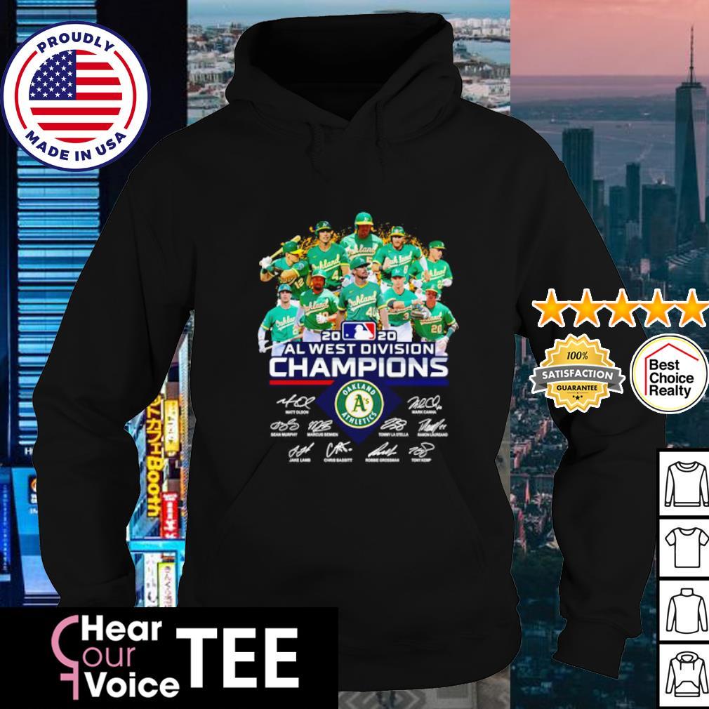 Oakland Athletics 2020 al west division champions signatures s hoodie