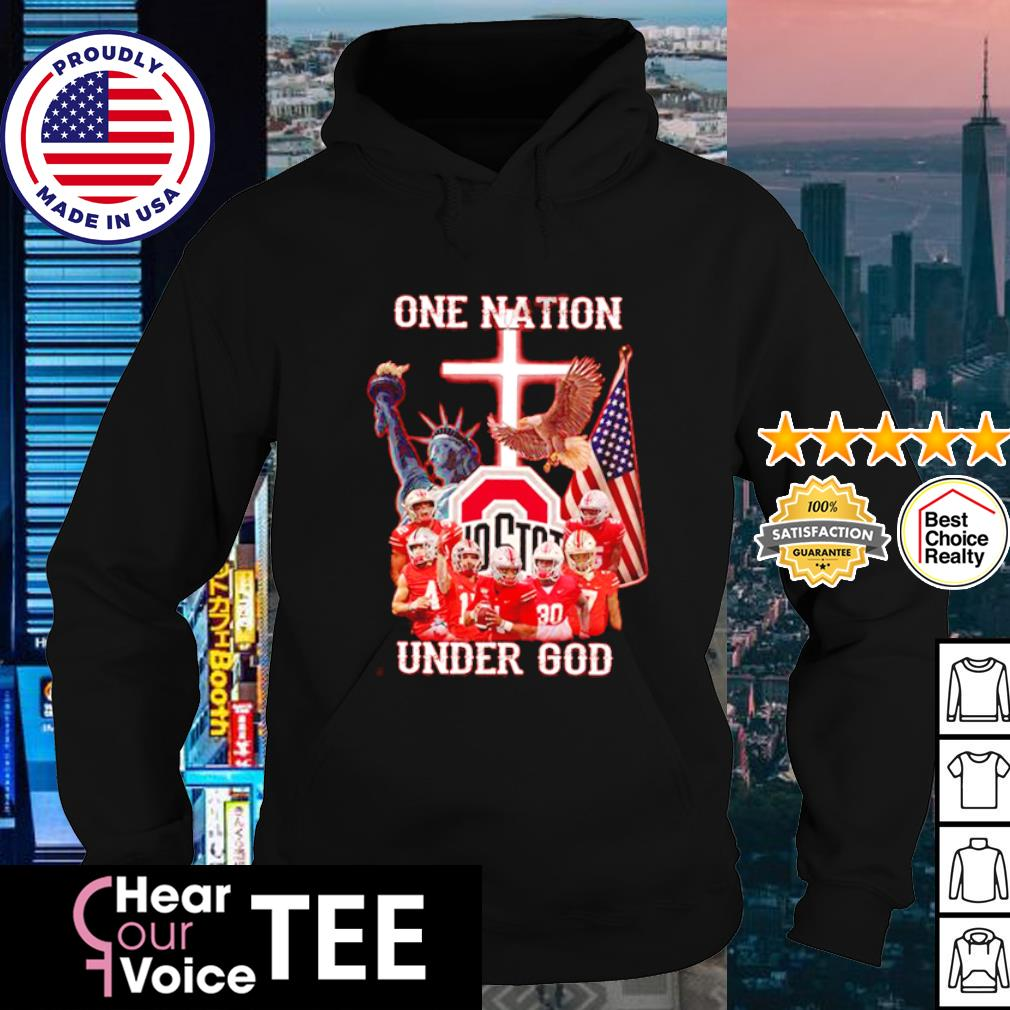 Ohio State Buckeyes one nation under god American Flag s hoodie