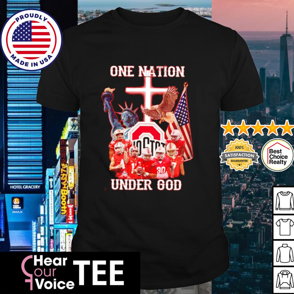 Ohio State Buckeyes one nation under god American Flag shirt