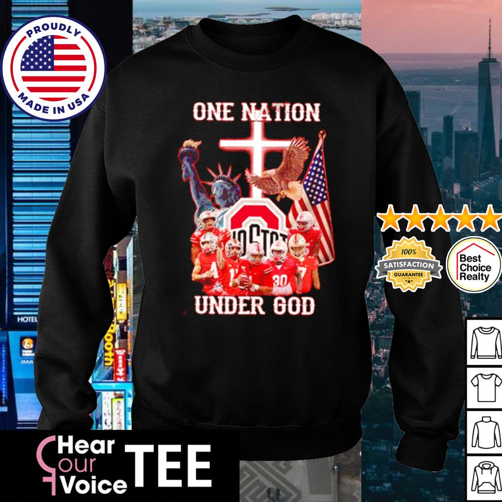 Ohio State Buckeyes one nation under god American Flag s sweater