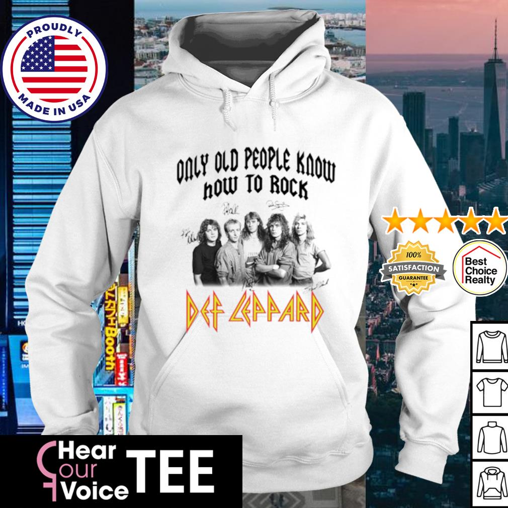 Only old people know how to rock AC DC siganture s hoodie