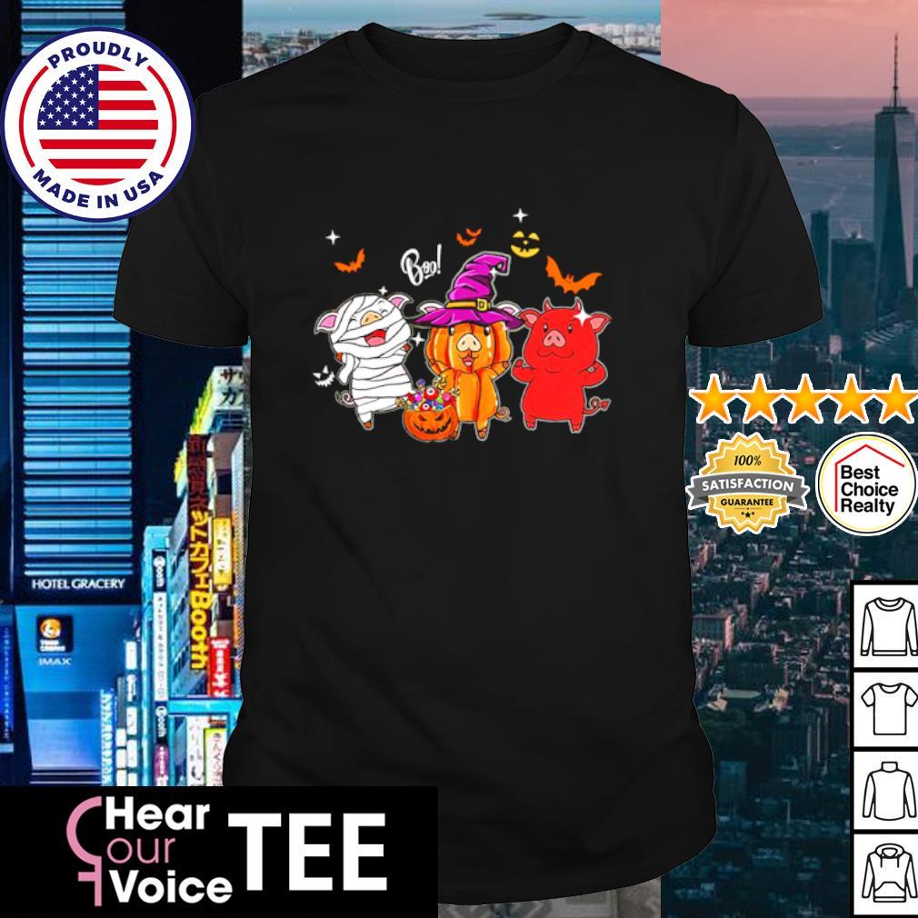 Pig boo happy Halloween shirt