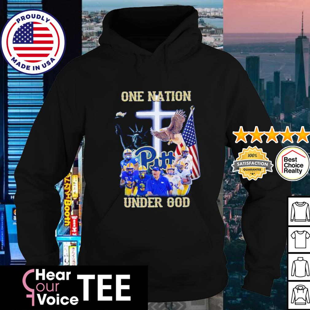 Pittsburgh Panthers one nation under god American flag s hoodie
