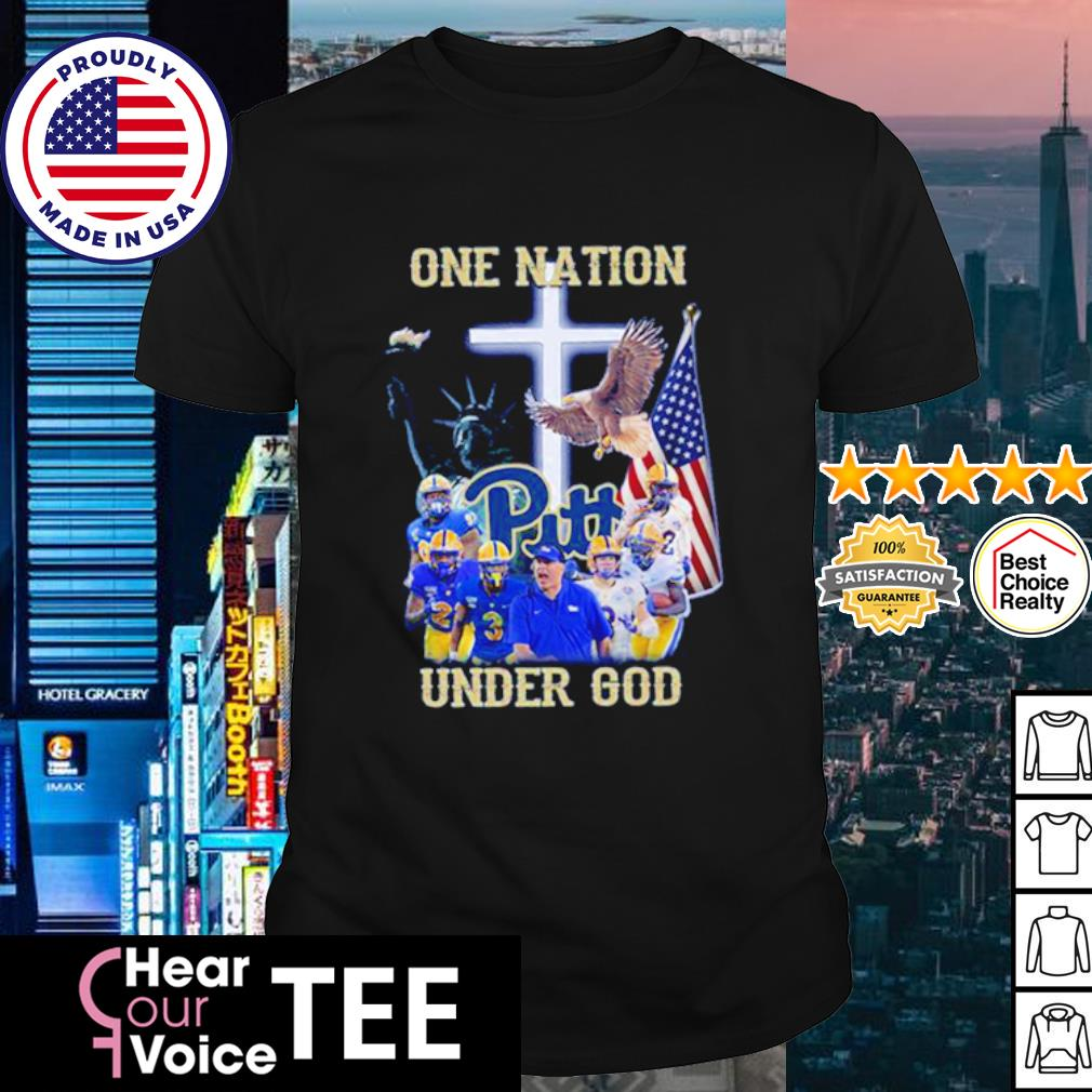 Pittsburgh Panthers one nation under god American flag shirt