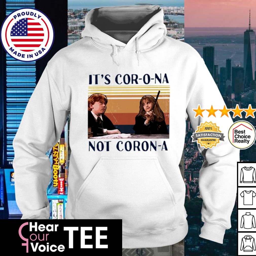 Ron And Hermione It's Cor-o-na Not Corona vintage s hoodie