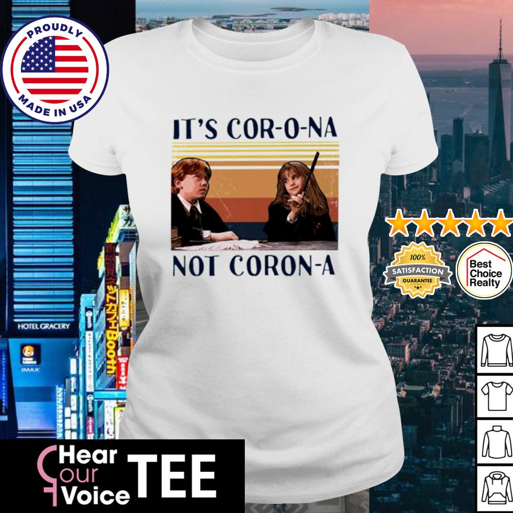 Ron And Hermione It's Cor-o-na Not Corona vintage s ladies tee