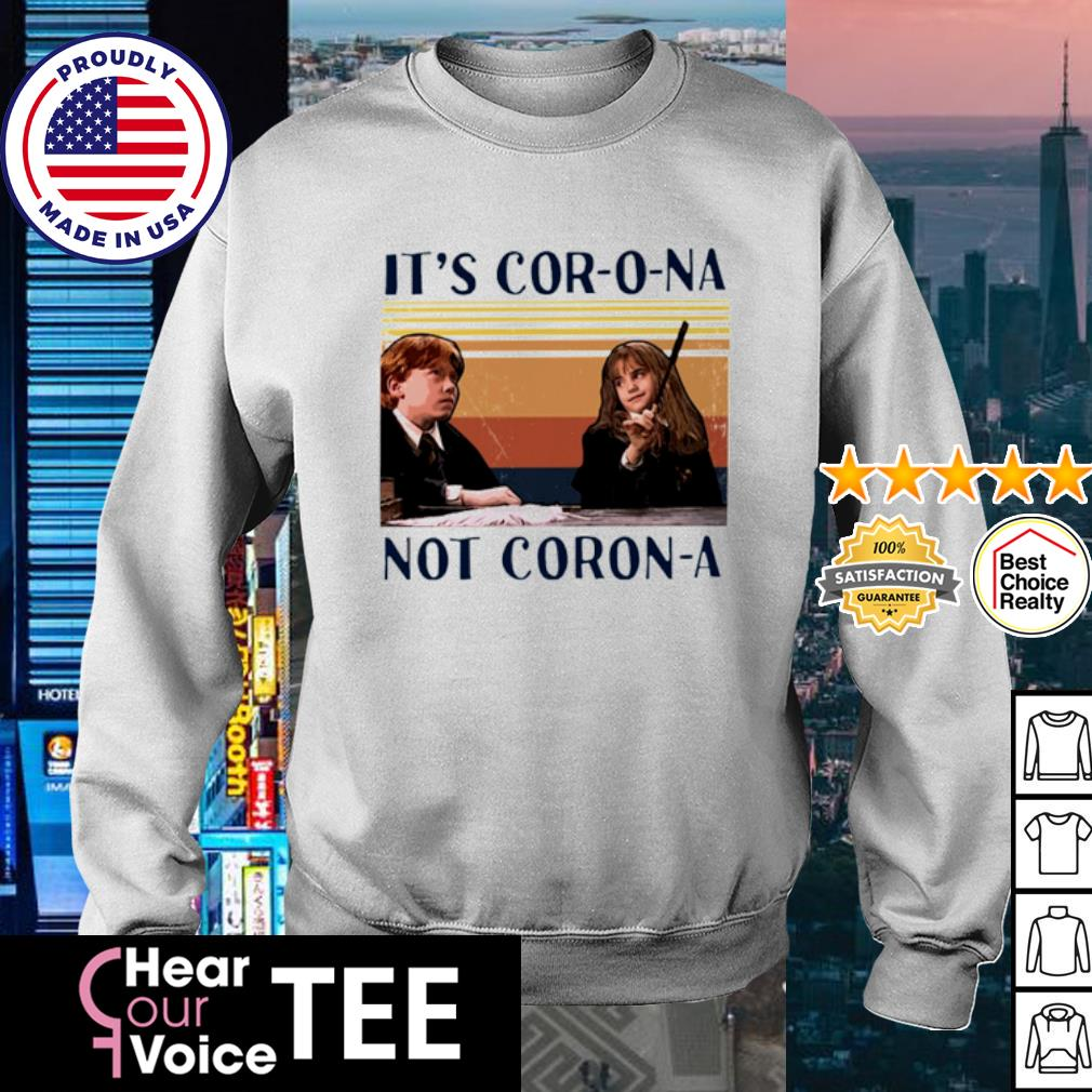 Ron And Hermione It's Cor-o-na Not Corona vintage s sweater