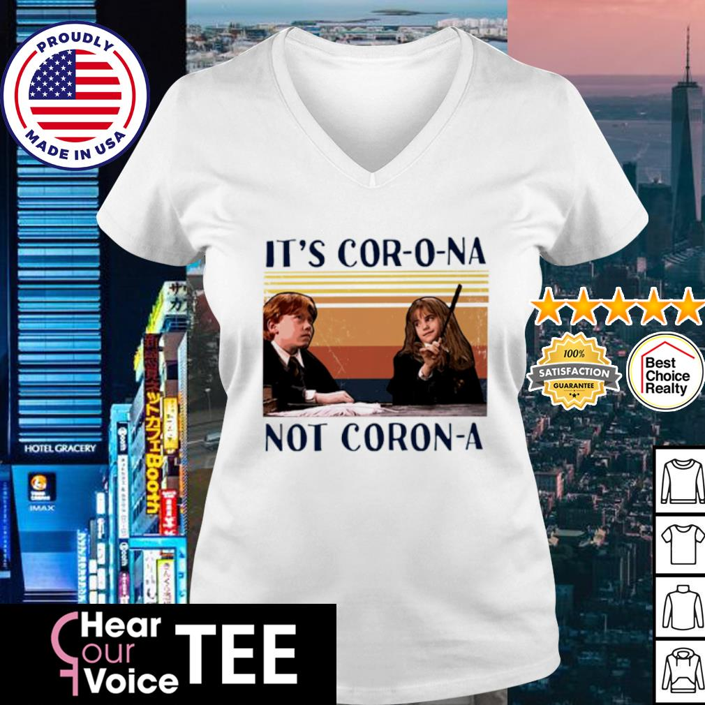 Ron And Hermione It's Cor-o-na Not Corona vintage s v-neck t-shirt