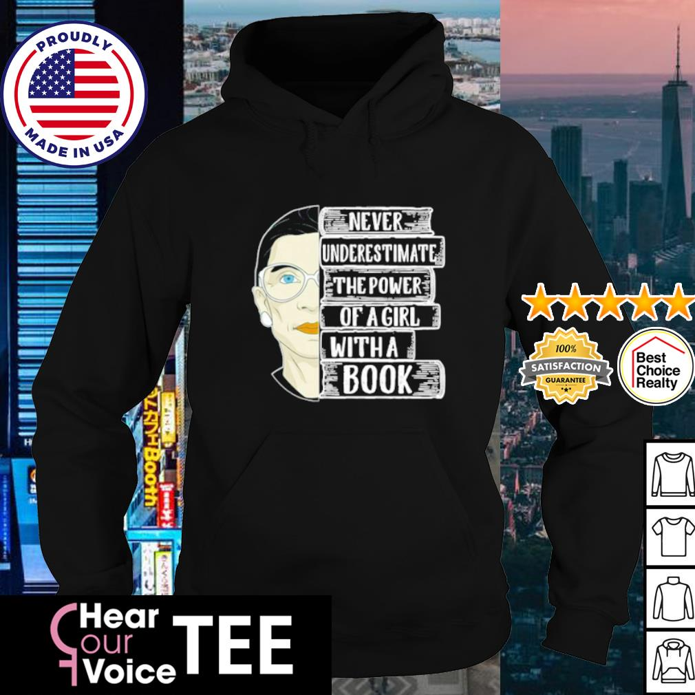Ruth Bader Ginsburg never underestimate the power of a girl with a book s hoodie