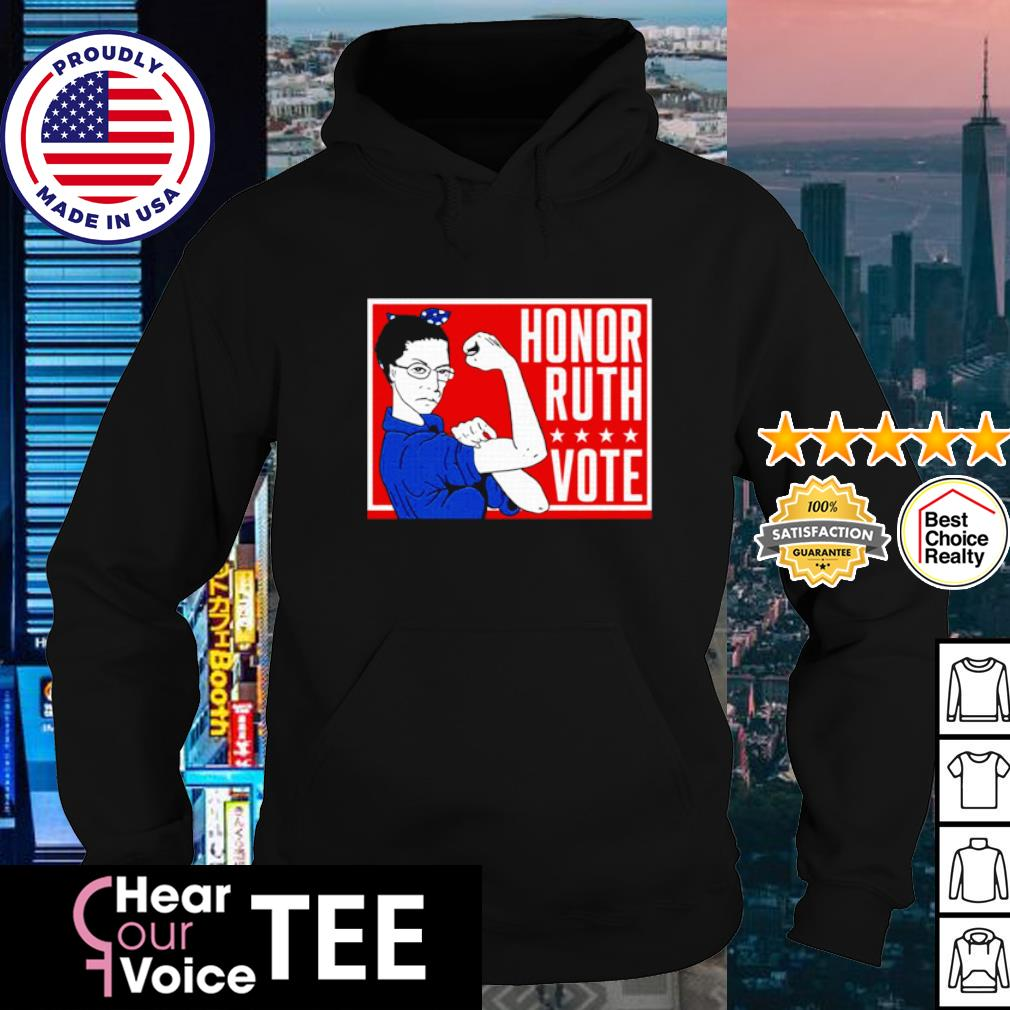 Ruth Bader Ginsburg Strong honor ruth vote s hoodie