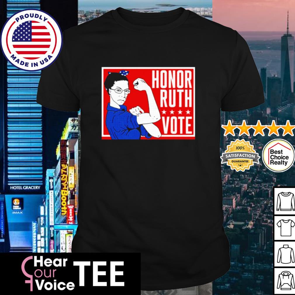 Ruth Bader Ginsburg Strong honor ruth vote shirt