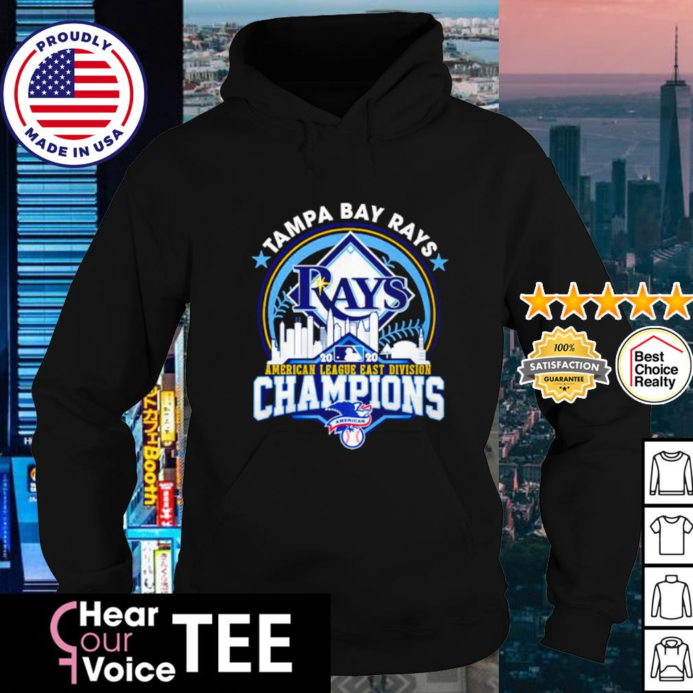 Tampa Bay Rays 2020 American league east division Champions s hoodie