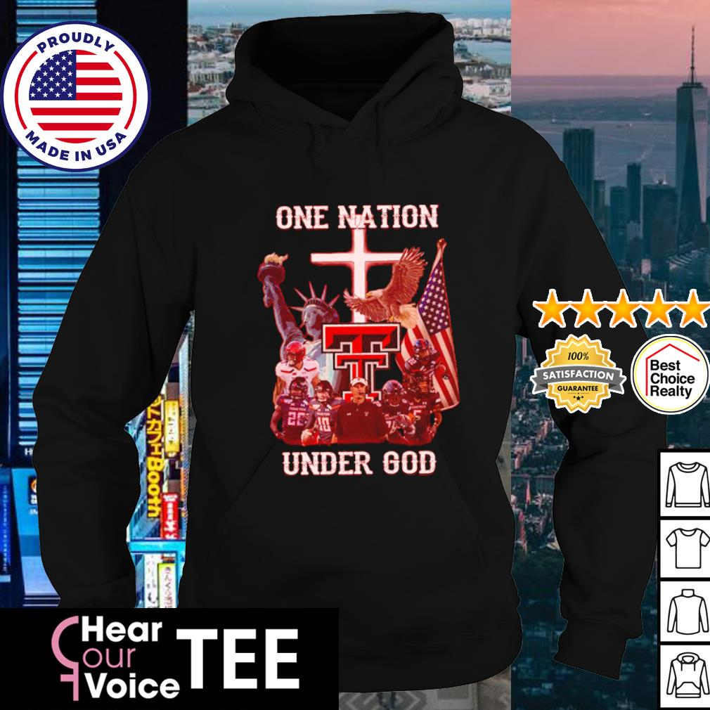 Texas Tech Red Raiders one nation under god American flag s hoodie