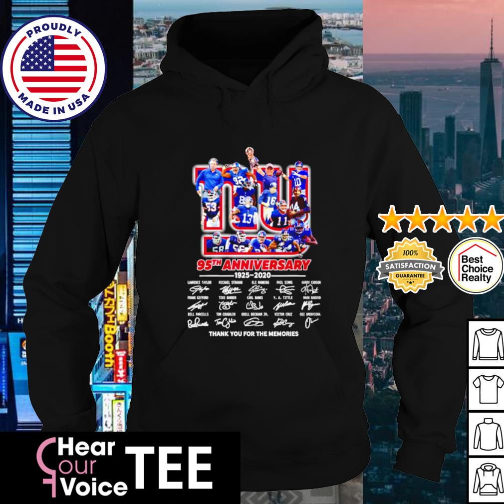 The New York Rangers 95th anniversary 1926 2021 thank you for the memories s hoodie