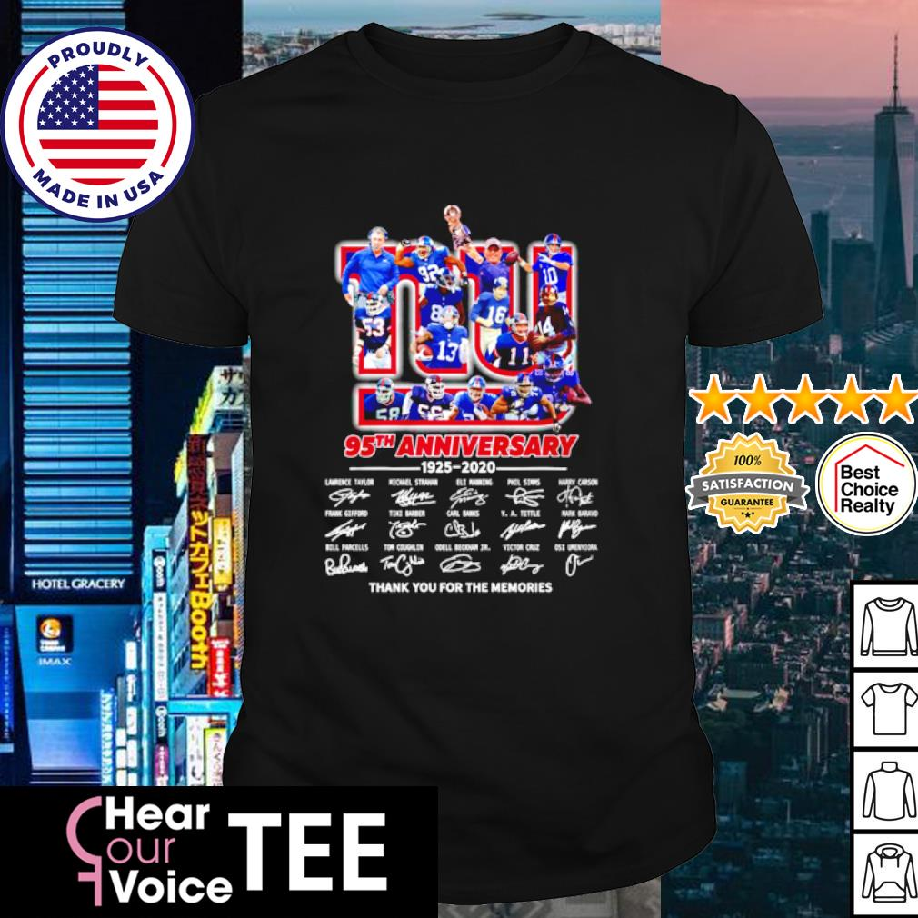 The New York Rangers 95th anniversary 1926 2021 thank you for the memories shirt