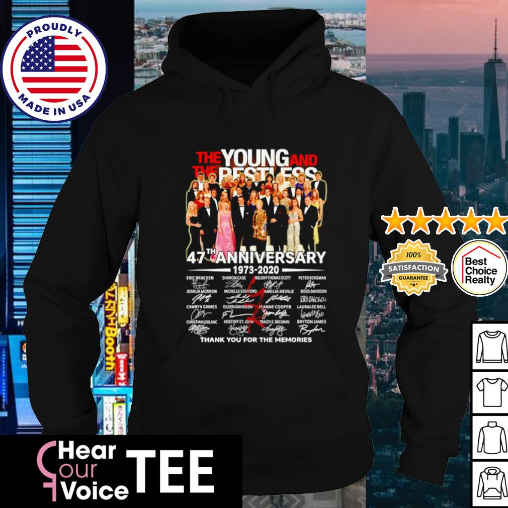 The Young and The Restless 47th Anniversary 1973 2020 thank you for the memories s hoodie