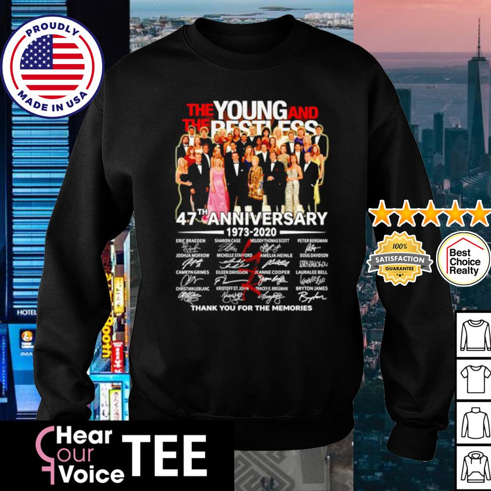The Young and The Restless 47th Anniversary 1973 2020 thank you for the memories s sweater