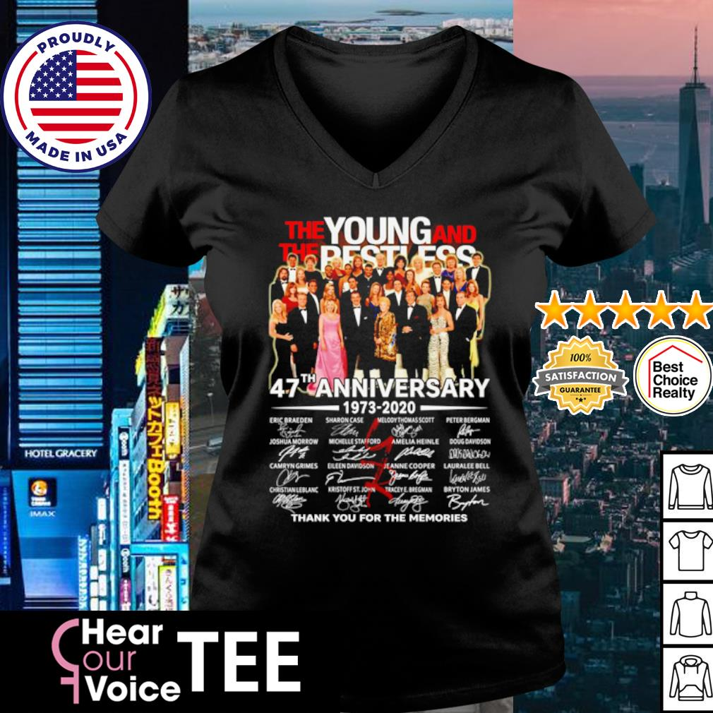 The Young and The Restless 47th Anniversary 1973 2020 thank you for the memories s v-neck t-shirt