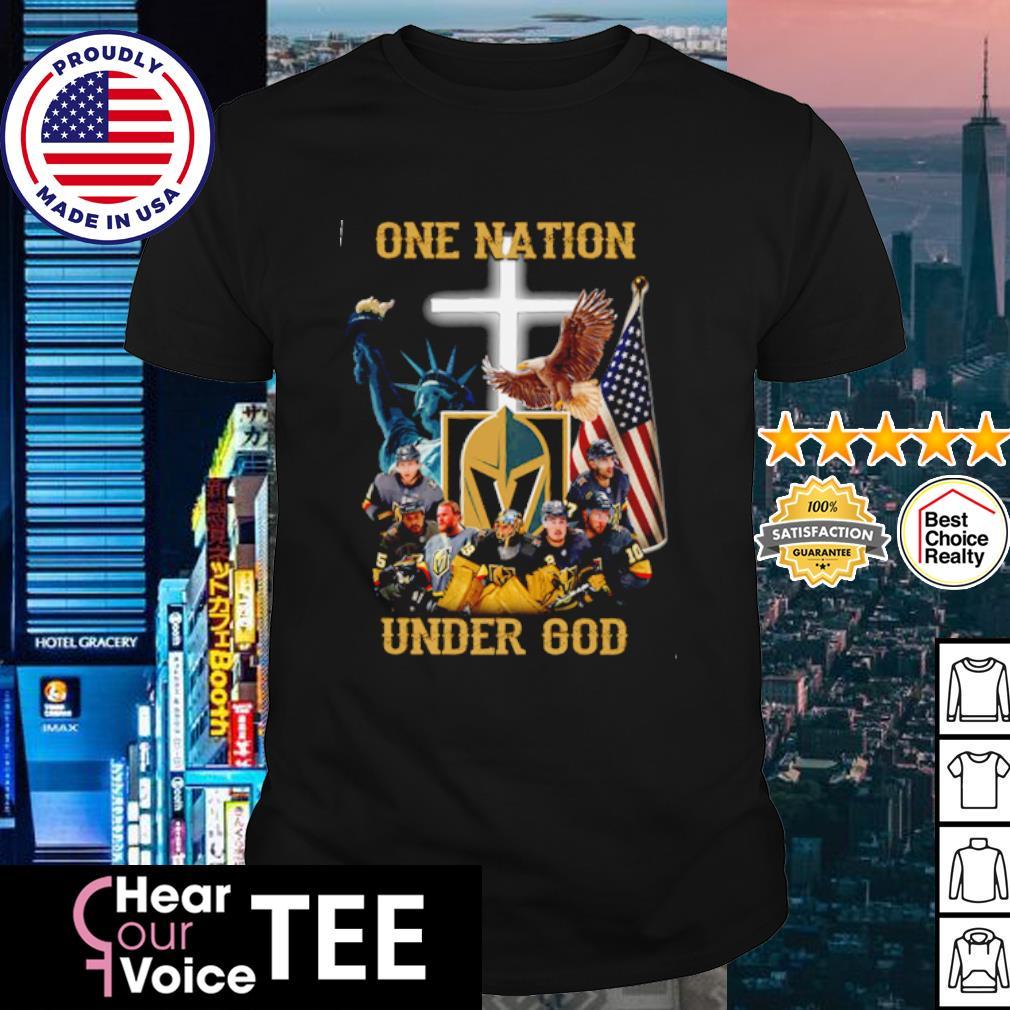 Vegas Golden Knights one nation under god American flag shirt