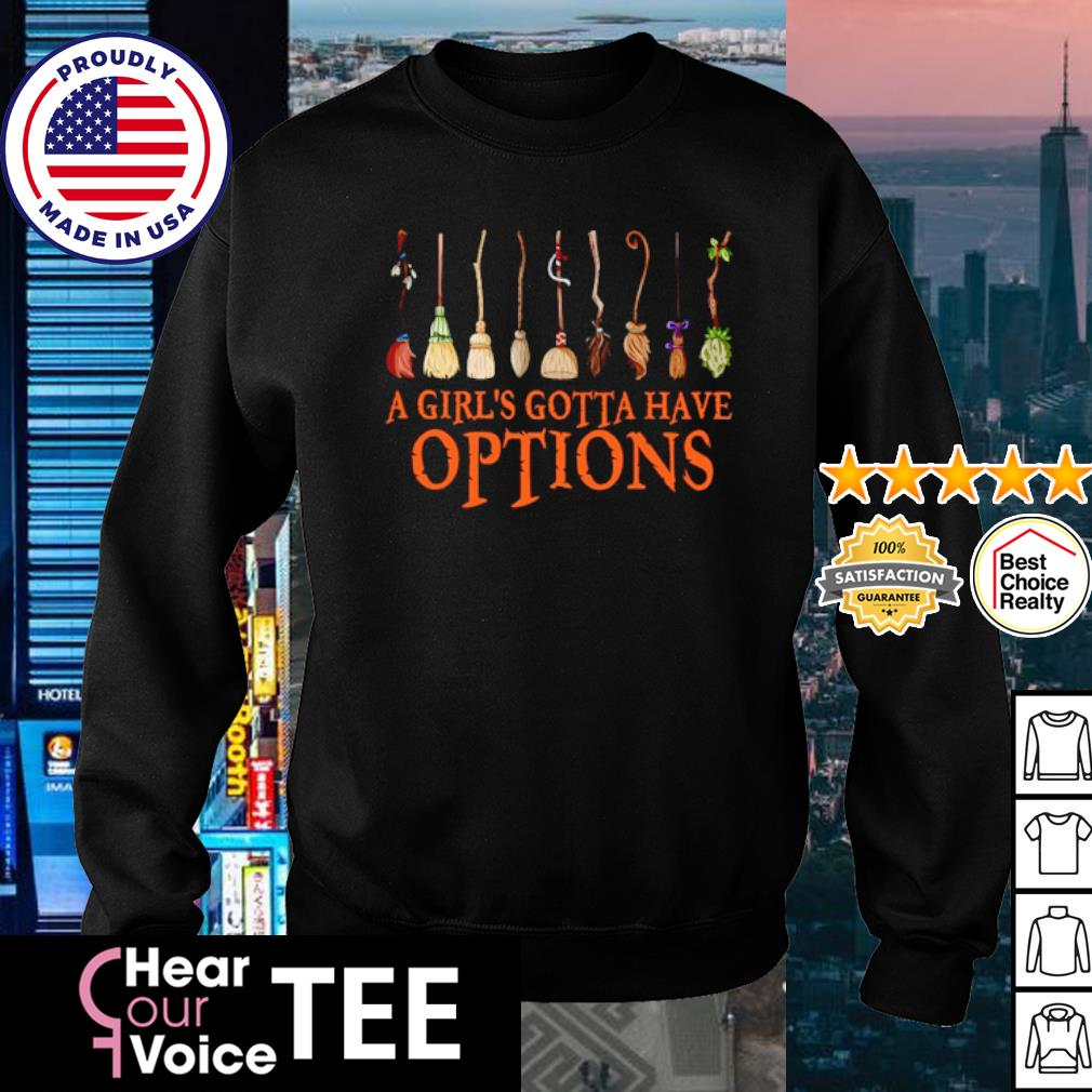 Witch Halloween a girl's gotta have options s sweater