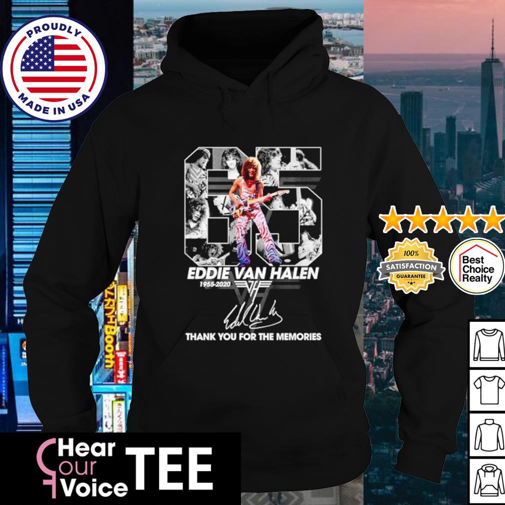 65 Eddie Van Halen 1955 2020 thank you for the memories s hoodie