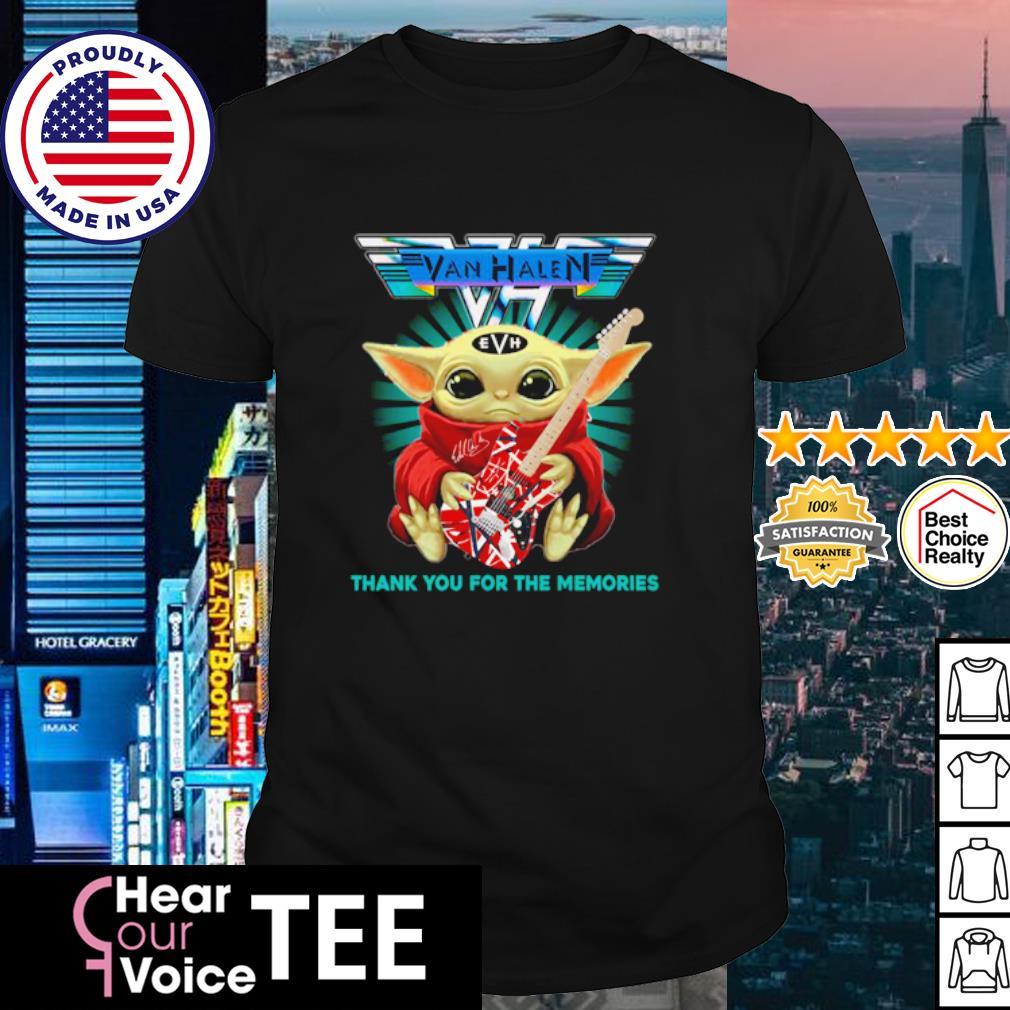 Baby Yoda Eddie Van Halen thank you for the memories shirt