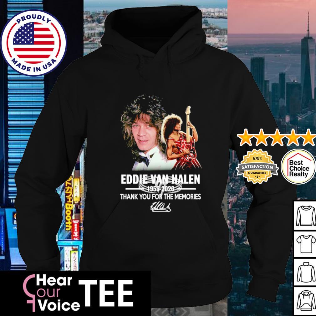 Eddie Van Halen 1955 2020 thank you for the memories s hoodie