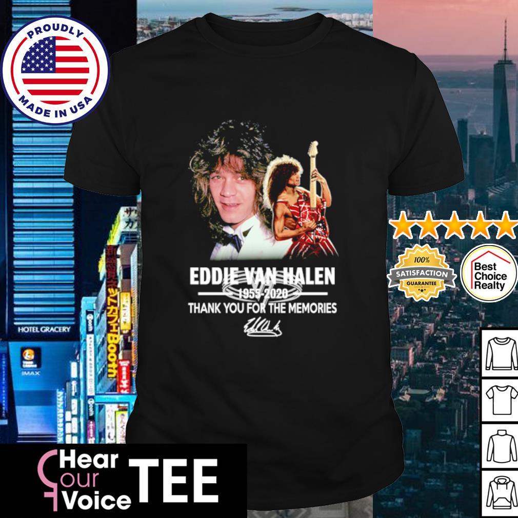 Eddie Van Halen 1955 2020 thank you for the memories shirt