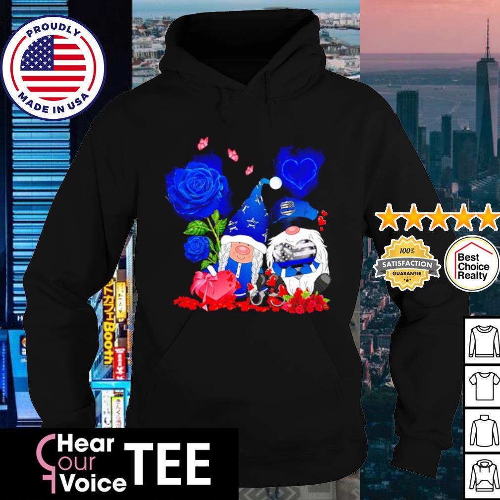 Police Gnome Couple Valentine s hoodie
