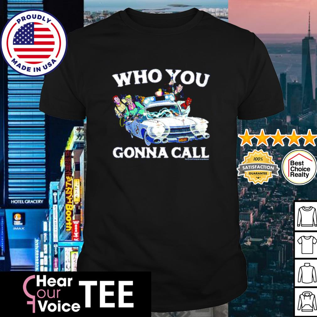 Real Ghostbusters Cast who you gonna call shirt
