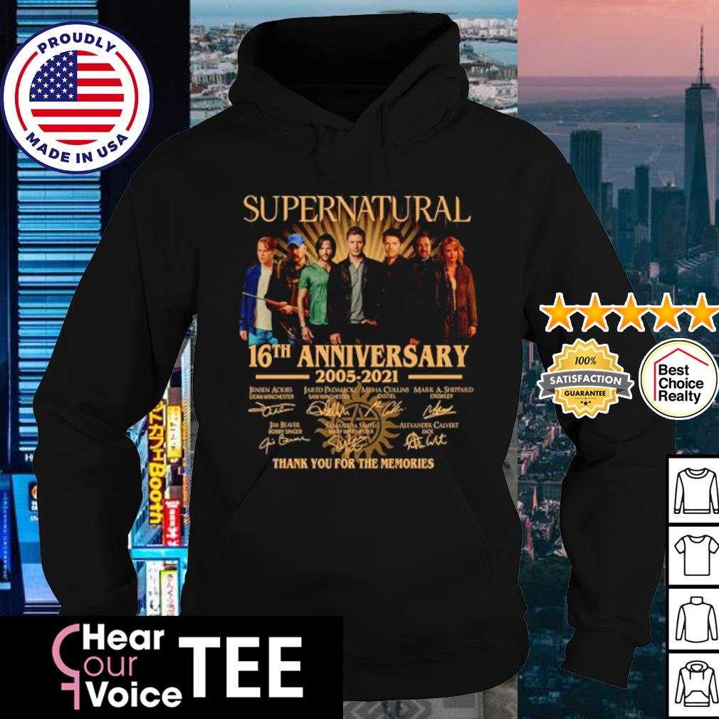 Supernatural 16th anniversary 2005 2021 thank you for the memories signature s hoodie